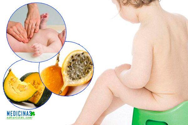 Estreñimiento en niños, alivio con remedios caseros