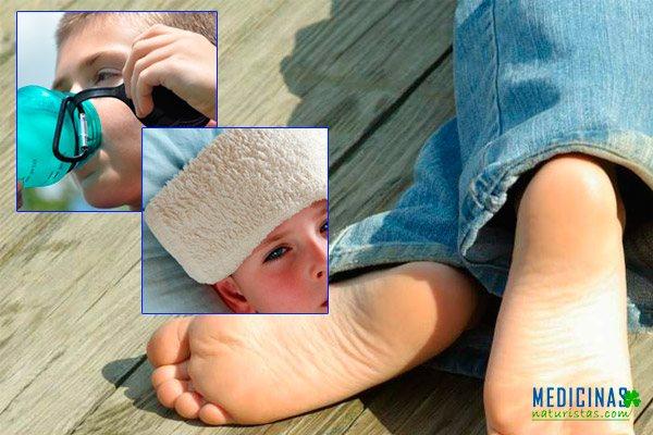 Golpe calor en niños y bebes, remedios caseros