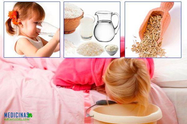 Vómitos en niños causas y remedios caseros