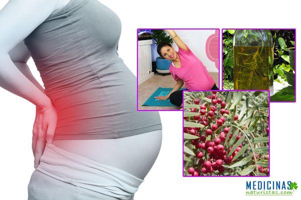Dolor espalda durante el embarazo soluciones naturales