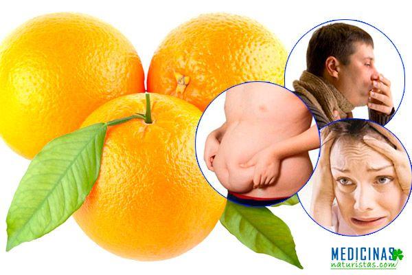 Naranja fuente de vitamina C, lucha contra los resfríos