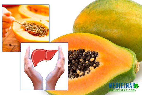 Papaya, mamona, semillas, hojas propiedades para limpiar el hígado