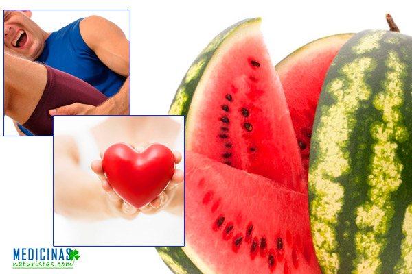 Sandia para la sed y el dolor muscular
