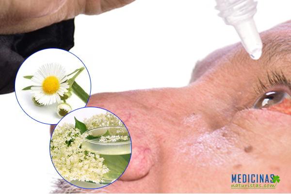 Lavados medicinales para casos de conjuntivitis, infección en los ojos