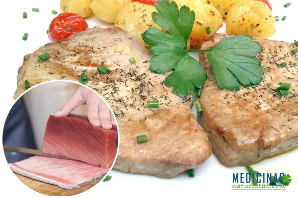 Lomo de atún asado, receta para una piel sin ARRUGAS