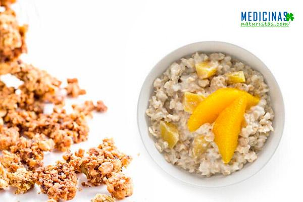 AVENA con mango, desayuno anti CELULITIS