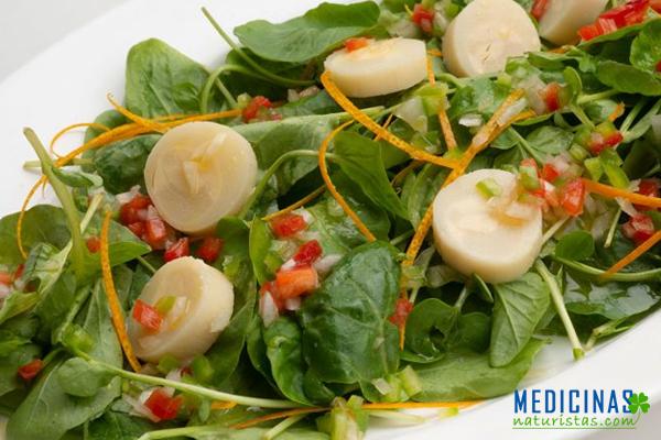 Ensalada de BERROS y alcachofas evita alergias alimenticias