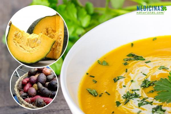 Crema de calabaza y zanahoria, receta antioxidante