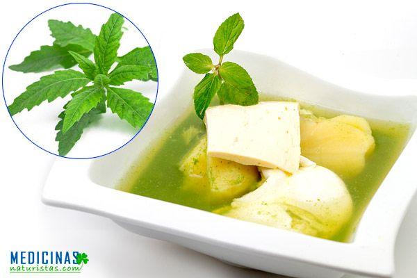 Caldo verde de paico medicinal