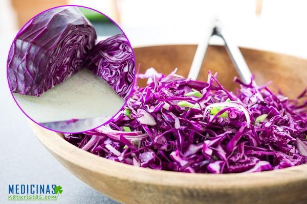 Ensalada de col morada, poderoso poder antioxidante