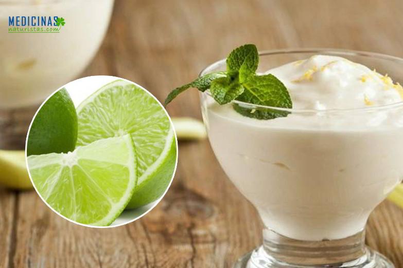 Mousse o espuma de limón, recomendado para la artritis
