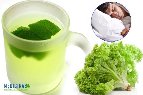 Infusión de lechuga, menta y miel para el insomnio