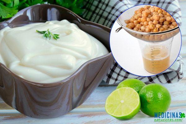 Mayonesa vegana con agua de garbanzos