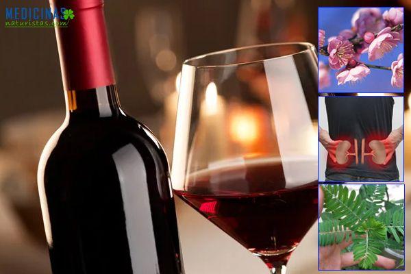 Licores caseros con vinos y plantas para cuidar los riñones